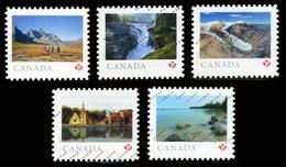 Canada (Scott No.3153-57 - Terre De Nos Yeux / From Here And Then) (o) Adhesive Set - 1952-.... Regering Van Elizabeth II