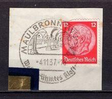 Briefstueck, EF, SoSt Maulbronn, 1937 (78052) - Deutschland