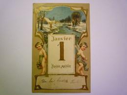 2019 - 2270  ANGELOT :  Jolie Carte Fantaisie Gaufrée  1905   XXX - Engel