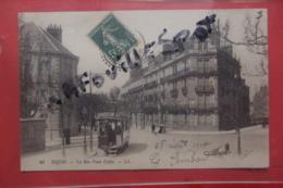 Cp Dijon La Rue Paul Cabet Animé Tram N 40 - Dijon