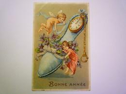 2019 - 2271  ANGELOT :  Jolie Carte Fantaisie Gaufrée  1907   XXX - Engel