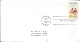 J) 1961 UNITED STATES, MASONIC GRAND LODGE, FREDERIC REMINGTON ARTIST OF THE WEST, FDC - United States
