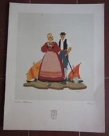 MENU ITALIA ITALIA LLOYD TRIESTINO ADRIATICA TIRRENIA MOTONAVE EUROPA ANNO 1953 COSTUMI ABRUZZO ILLUSTRATORE ACCORNERO - Menu