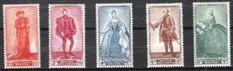 Belgien Belgique 1949:Impériales & Noblesse  Royals & Nobility Kaiser & Fürsten COB 818-822 Yv 819-823 Mi 858-862 ** MNH - Familles Royales