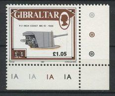 Gibraltar 1991 N° 628 ** Neuf MNH Superbe C 6 € Armes Canons Pièce Côtière De 9,2 Pouces Série Courante - Gibraltar