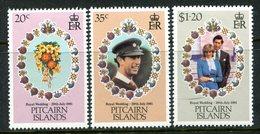 Pitcairn Islands 1981 Royal Wedding Set LHM (SG 219-221) - Stamps
