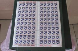 France  1962 - 1965 Armoiries  De Troyes  Cat Yt   N°  1353 Feuille Entière De  100 Tp Coin Daté 21 061976 - Full Sheets