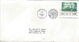 J) 1961 UNITED STATES, MASONIC GRAND LODGE, GENTLE KNIGHT OF PROGRESSIVE IDEALS GEORGE W NORRIS, FDC - United States