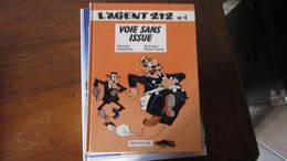 L'AGENT 212 T4 VOIE SANS ISSUE   CAUVIN/KOX - Agent 212, L'