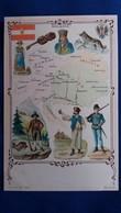 CPA GEOGRAPHIQUE PLAN CARTE AUTRICHE HONGRIE FOKLORE DRAPEAU - Landkarten
