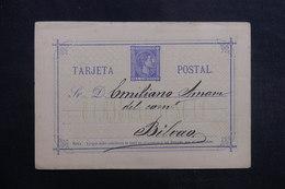 ESPAGNE - Entier Postal De Oviedo Pour Bilbao En 1876 - L 40252 - 1850-1931