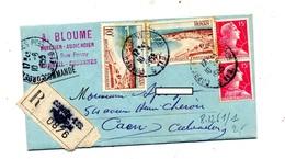 Lettre Protet Recommandée Corbeil Sur Royan Muller - Postmark Collection (Covers)