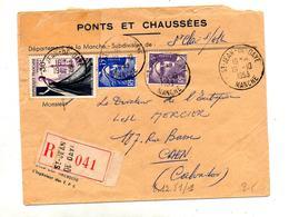 Lettre Recommandée Saint Jean De Daye Sur Couture Gandon - Postmark Collection (Covers)