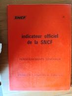 Indicateur Officiel De La SNCF 1979 - Europe