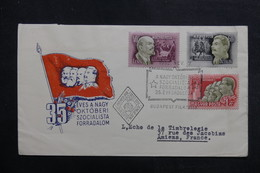 HONGRIE - Enveloppe FDC En 1952 - Parti Socialiste - L 40253 - FDC
