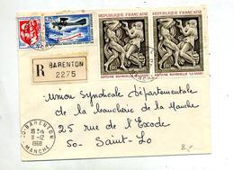 Lettre Recommandée Barenton Sur Bourdelle - Postmark Collection (Covers)