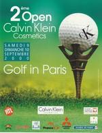 Calvin KLEIN **  Flyer  Pour **GOLF In PARIS ** Sept.2000 ( 2ème OPEN Des Parf. C.KLEIN ) 3 Scans - Cartes Parfumées