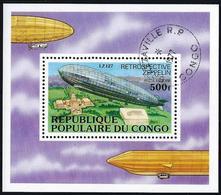 CONGO - 1977 - BF N°11 Oblitéré - ZEPPELIN - Oblitérés