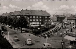 ! Alte Ansichtskarte  Hamburg Finkenwerder, Am Norderdeich, Autos, Cars, Eisenbahnstrecke - Finkenwerder