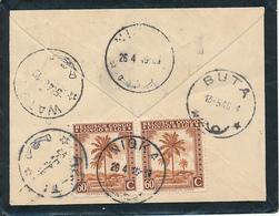 BELGIAN CONGO INLAND MOURNING COVER FROM LEO.1946 TO NIOKA REFORWARDED AKETI NICE TRASIT MARKS ON THE BACK - 1923-44: Briefe U. Dokumente