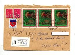 Lettre Recommandée Paris 47 Sur Carzou Bequet - Postmark Collection (Covers)
