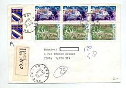 Lettre Recommandée Anse Sur Foret Cern - Postmark Collection (Covers)