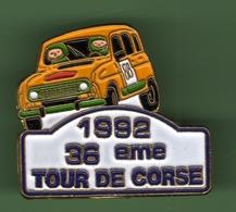 RENAULT 4L *** 36eme TOUR DE CORSE 1992 *** 1040 (35) - Automobile - F1