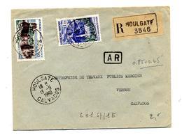 Lettre Recommandée Houlgate Sur Reunion Fougeres - Postmark Collection (Covers)