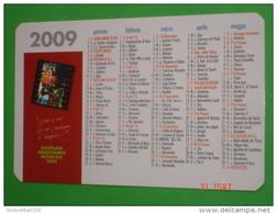 Calendarietto Anno 2009 - Giornata Missionaria Mondiale 2008  - Pontificie Opere Missionarie,Roma -santino Plastificato - Calendari