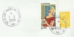 """VAR / Cachet / Enveloppe Entière """" LE LUC MUSEE DU TIMBRE A.P. """" / 2008 - Postmark Collection (Covers)"""