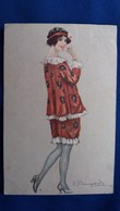 CPA FEMME JOLI HABIT ROBE ART DECO 1915 ILLUSTRATEUR BOMPARD - Bompard, S.