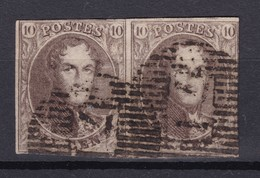 N° 10 Paire DISTRIBUTION 71 ENGIS - 1858-1862 Medallones (9/12)