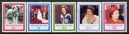 Pitcairn Islands 1986 60th Birthday Of Queen Elizabeth II Set LHM (SG 285-289) - Stamps