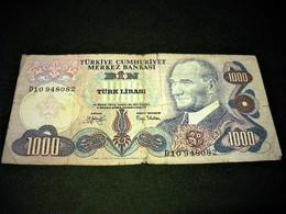 TURQUIE 1000 Lirasi / Livres 1971-1982, Loi De 1970 ,grand Format , Pick N°191 , Assez Rare, TURKEY - Türkei