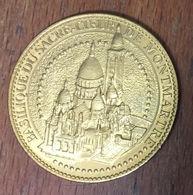 75018 PARIS BASILIQUE DU SACRÉ COEUR DE MONTMARTRE MÉDAILLE TOURISTIQUE ARTHUS BERTRAND 2012 JETON MEDALS TOKENS COINS - Arthus Bertrand