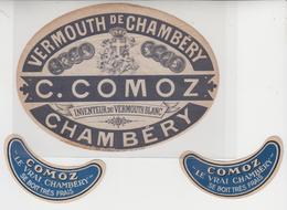 ET  009 / VERMOUTH DE CHAMBERY / Par C . COMOZ  , CHAMBERY ( 73 ) Savoie+ Anciennes étiquettes Pour Col - Autres
