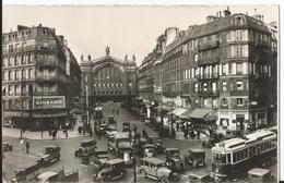 """Photo - Paris  - Rue Lafayette  - Tramway - Gare Du Nord - Motrice """"E"""" 10 ème - Vieilles Autos Voiture Photo Laurent - Eisenbahnen"""