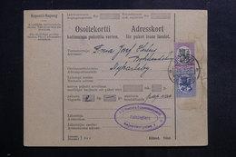 FINLANDE - Formulaire De Colis Postal De Helsinki En 1928 Pour Nykarleby - L 40283 - Lettres & Documents