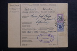 FINLANDE - Formulaire De Colis Postal De Helsinki En 1928 Pour Nykarleby - L 40283 - Finlande