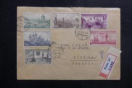 TCHÉCOSLOVAQUIE - Enveloppe En Recommandé De Praha Pour La France En 1957, Affranchissement Plaisant, Vignette - L 40289 - Cartas