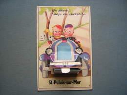 CARTE SYSTEME PHOTOS - ST PALAIS SUR MER - COUPLE DANS UNE AUTO BUGATTI - Saint-Palais-sur-Mer