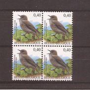 OCB 3265 Postfris Zonder Scharnier ** In Blok Van 4 - 1985-.. Birds (Buzin)