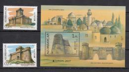 Az  1193-94+ Bl.176 Europe Stamps 2017 Castles 2017 - Aserbaidschan