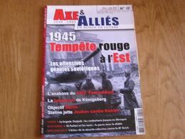 AXE ET ALLIES N° 19 Guerre 40 45 Offensive Soviétique Berlin Armée Rouge Köningsberg Stefanik IG Farben 24 Panzerkorps - Guerre 1939-45