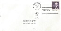 J) 1961 UNITED STATES, MASONIC GRAND LODGE, HORACE GREELEY, FDC - United States