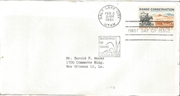 J) 1961 UNITED STATES, MASONIC GRAND LODGE, RANGE CONSERVATION, THE TRAIL BOSS, BLESSINGS OF GRASS, FDC - United States