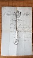 Fürstenthum Lippe, Heimatschein Von 1855 - Historische Dokumente