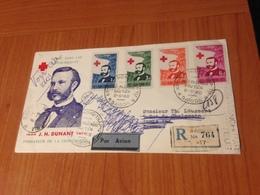 LETTRE DE SAIGON A THEOULE SUR MER (06) 8/5/1960- ( Recommandé Par Avion )DUNANT  Fondateur De La Croix Rouge - Marcofilia (sobres)