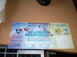 Football SCG Litvanija Fifa World Cup 2006 - Tickets - Vouchers