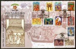India 2018 Ramayana Of ASEAN Countries Hindu Mythology Religion Set Of  11v FDC - Hinduism